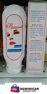 CREMA BLANQUEADORA BLANQUISIMA 4 OZ WHITENING CREAM DOMINICAN PRODUCT DARK SPOT