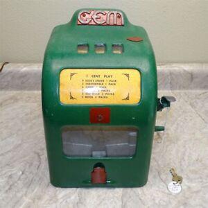 Vintage Working GEM One Cent Cigarette/Gumball Trade Stimulator 1936 GC1
