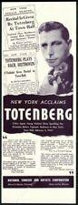 1942 Roman Totenberg photo violin recital tour booking trade print ad