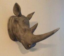 Rhino Rhinoceros Head Wall Mount Decoration Lodge Log Cabin Man cave Taxidermy