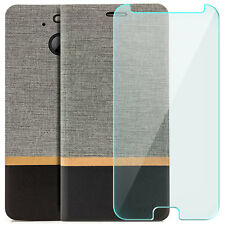 Étui portefeuille pour HTC 10 EVO - Housse Protection anti-choc + Verre Trempé