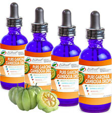 4 Pure Garcinia Cambogia Drops with 60% HCA 500MG. 4 2oz Bottles 8 Total Ounces