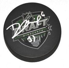 DAVID MUSIL signed 2011 NHL DRAFT PUCK OILERS 31st PICK 1000788