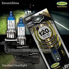Ring Xenon Gas Ultima HB3 12v Car 120% Brighter Upgrade Headlight Headlamp Bulbs