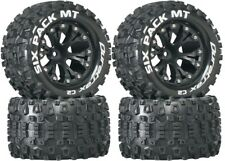NEW Duratrax Six Pack MT Tires Wheels 4WD Stampede Savage XS Flux F / R 4