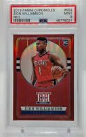 Zion Williamson 2019-20 Panini Chronicles RED /149 RC #552   Pelicans  PSA 9
