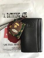 NEWLY A BATHING APE MEN LEATHER PHONE WALLET BAG LONG CLUTCH HAND BAG HOT