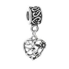 Aunt Love Heart Charm Bead
