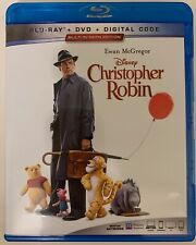 DISNEY CHRISTOPHER ROBIN BLU RAY DVD 2 DISC MULTI-SCREEN EDITION FREE SHIPPING