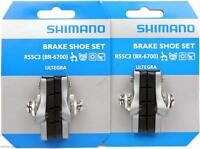 2-Packs Shimano R55C3 Ultegra 6700 Brake Shoe Sets Road Bike Alloy Rims