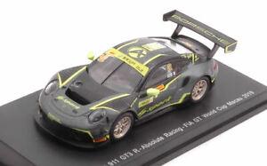 Modellino auto rally scala 1:64 Spark PORSCHE 911 GT3 R 912 FIA GT MACAU 2019