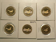 Canada Proof $1 Dollar Date Set, Lot of 6, 1999 to 2005 Set #G7569