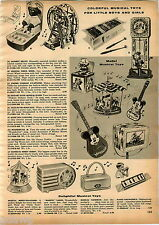 1958 ADVERTISEMENT Typewriter Tom Thumb Kamkap Radar Mickey Mouse Guitar Speed