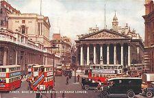B85849 double decker bus bank of england royal exchange   london uk