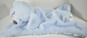 Baby GUND COMFY COZY FLUFFEY BLUE DOG Mat Security Blanket LOVEY SOFT BABY TOY