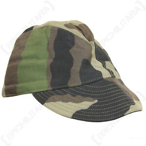 Original French F1 CCE Camo Cap - Army Sun Peak Baseball Hat Uniform Soldier