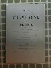 Revue de Champagne et de Brie avril 1880 Fabert , Féaultez de Bourbonne, Troyes