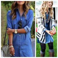 New J.CREW Medium 8 10 DRESS Shirtdress CHAMBRAY Jean DENIM Blue Career Casual B