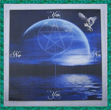 Owl & Moon Scrying/Dowsing Mat for use with a pendulum Wiccan divination gift