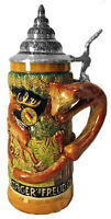 Limited Edition Collectable German Lidded Beer Stein. Hand-painted Hunt Scene