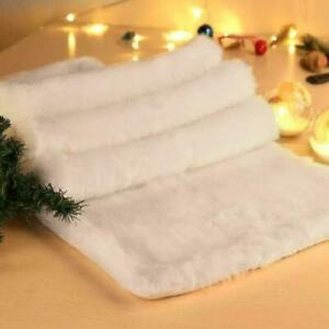 Christmas Table Runner Snowy White Plush Faux Fur Table Runner Xmas Table Decor