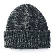 Apt. 9 Men's One Size Space-Dyed Black Marble Knit Cuffed Beanie NEW $20
