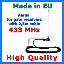 433 MHz Aerial / Antenna mit 2,5m cable for Gate openers/ receivers HIGH QUALITY