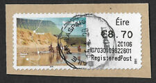 2020 Ireland Eire €8.70 Registered Post - Post and Go stamp used on small piece