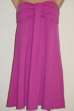 NWT  Hula Honey Swimwear Cover-Up Tunic Dress SIZE L Strapless Raspberry
