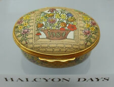 """Halcyon Days """"A Year To Remember"""" 1984 Floral Box - >2""""(5.25cms)"""