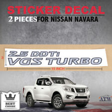 2 PC Sticker Decal Silver Trim 25 DDTI VGS Turbo Fit Nissan NAVARA Np300 2014