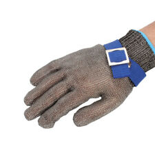 Metal Mesh Butcher Gloves Cut-Resistant Protection Level 5 Resistant Safety Gray