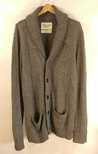 Abercrombie & Fitch Shawl Cardigan Sweater - Small - Gray