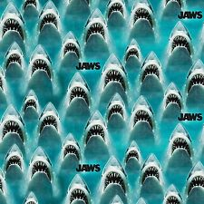 Universal Jaws Classic Jaws Blue 100% cotton fabric by the yard