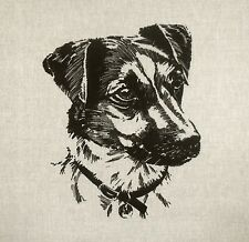 TEX EX ORIGINAL WORKING DOGS JACK RUSSELL TERRIER CUSHION PANEL LINEN DOG PET