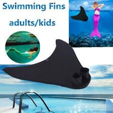 Kids Adult Swimming Fins Training Flipper Mermaid Foot Flipper Diving Feet D2L9