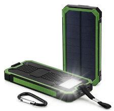 Waterproof 900000mAh Portable Solar Charger Dual USB Battery Power Bank Green