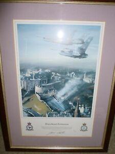 FRAMED DAVID HAMILTON BRAVEHEART FORMATION RAF TORNADOS OVER EDINBURGH CASTLE