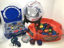 Beyblade Metal Fury Huge Lot Carrying Case Battle Done Burning Firestrike Arena