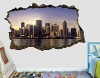 City New York Sunset wall decals stickers mural home decor for bedroom Art AH570