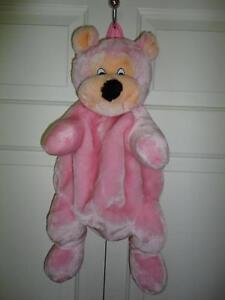 Teddy Bear Pink Backpack School Bag Stuffed Plush Back Pack 20 inch
