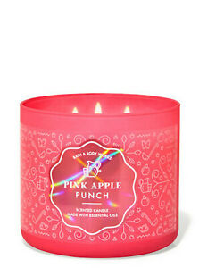 Bath & Body Works Pink Apple Punch 3-wick Candle, Perfect for Valentine's Day!