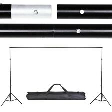 Aluminum 10ft Adjustable Background Support Stand Photo Backdrop Detach Crossbar