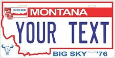 Montana 1976 License Plate Tag Personalized Auto Car Custom VEHICLE OR MOPED