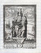 KULM Madonna sehr schöner großer Kupferstich um 1680 Original!