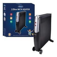 Silentnight 2500W Portable Digital Convector Infra Red Panel Mica Heater - BLACK