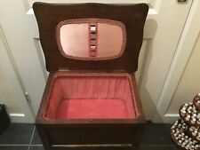 Vintage Morco 1950s Wooden sewing box In good used condition for age