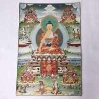 """36"""" Tibet Tibetische Tuch Seide Menla Medizin Buddha Tangka Thangka Wandbild #25"""