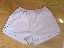 SOPRANO SHORTS Women's Size Small STUDS EMBROIDERED Pink BLUSH Polyester