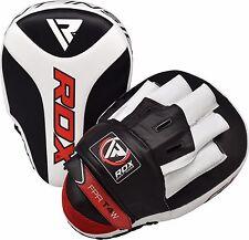 RDX Focus Pads Hook & Jab Mitts Kick Boxing MMA Strike Punch Bag Kick Curved CA